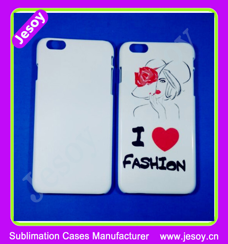 JESOY for Iphone 5 6s 7 Plastic Sublimation Case 3D ,Hot Sell Sublimation Cover Case For ip6