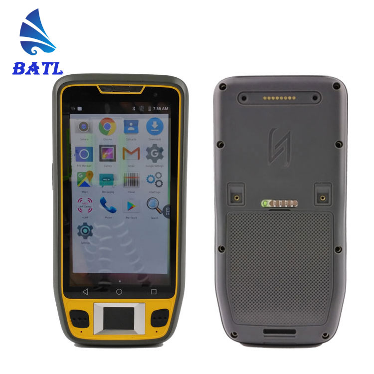 "5"" rugged android smart card Biometric reader 1d 2d barcode scanner handheld terminal with fingerprint"