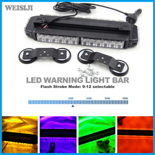Led flash warning light White Red Green Amber 42w used police emergency strobe light bar