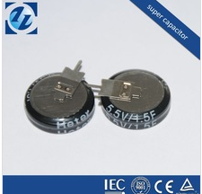 5.5V1.0F; Coin Type Super Capacitor; Button Type Ultra Capacitor (V Model)