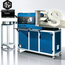 S1800 channel letter auto bending machine with notch and flange