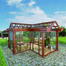 Sound-proof double glass aluminum frame sunlight room
