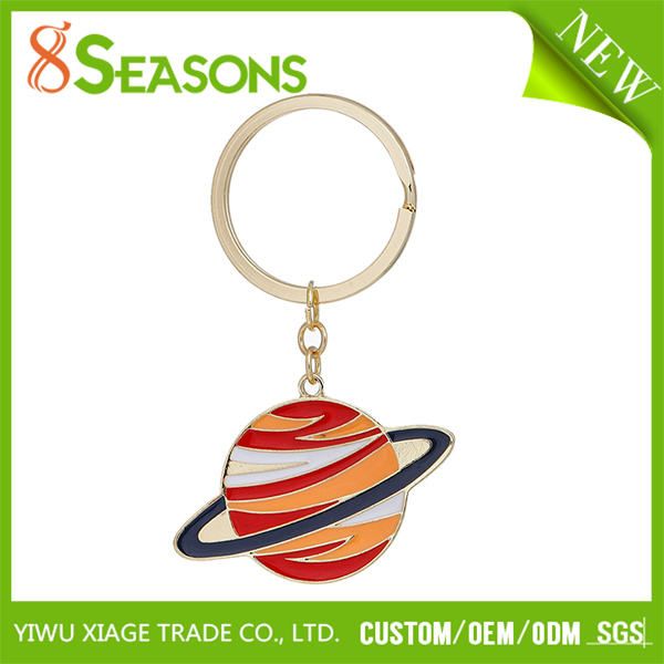 New Fashion Planet Gold Plated Multicolor Key Chains Key Rings