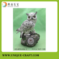 New product resin bird figure with LED light for home decors