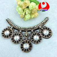 beautiful big stone glass beaded collar neckline for women wedding dress