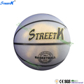 streetk brand cheap balls basketball size 7 glow in the dark rubber basketball
