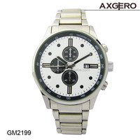 Wholesale high quality geneva quartz japan movt stainless steel watch with chronograph wrist watch