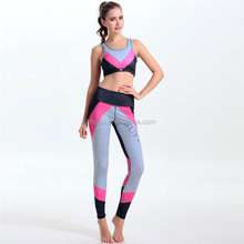 Hot Sale Cheap Price Sport Wear Fitness Women Over Locked 4 Sitching Wear Polyester Spandex