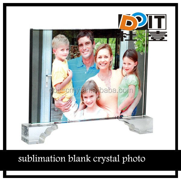 wedding photo crystal,3d sublimation blank crystal for personalized photo souvenir