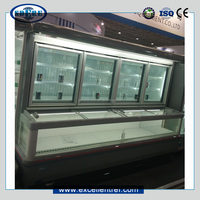 Hot sell Shandong OEM factory DCS2222F1 ice cream van twin refrigerator and freezer with latches