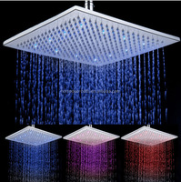 10 inch Brass Led color change Square shower head