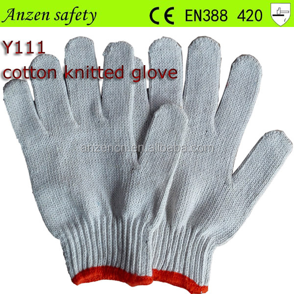 china supplier cotton fabric glove for safety from china