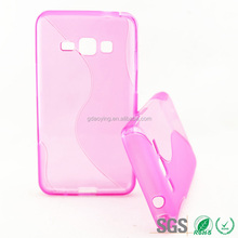 Pink S-line Soft Gel Silicon Back Case Cover For Samsung Galaxy Z1 Z130H