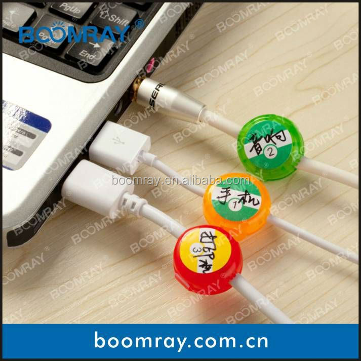 BOOMRAY Smart Cord identifier 3PCS colorful plastic cable mark cord identifier travel agency promotion gift