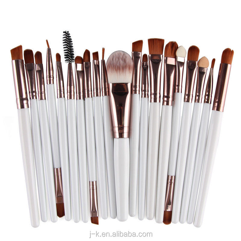 15 stücke make-up pinsel private label make-up pinsel make-up Helle silber aluminiumrohr pinsel make-up