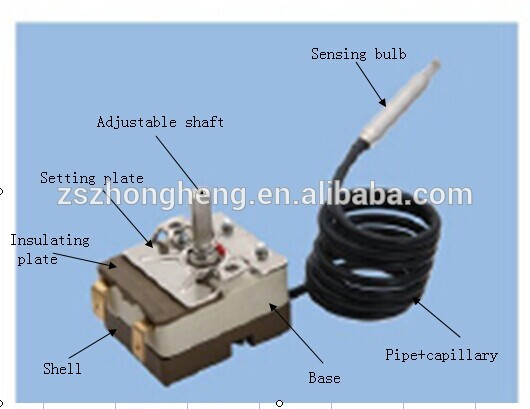 Oven capillary thermostat with  certificate WYE series