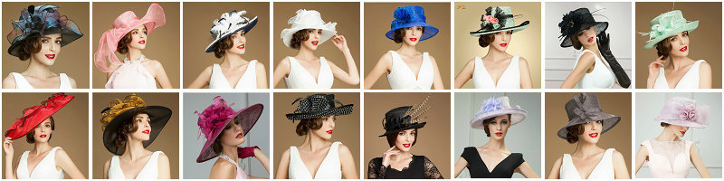 2014 pink Custom elegant Sinamay womens church hats for sales