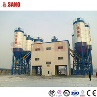 Stationary concrete factory ISO9001HZS 120 HZS series concrete batching plant/station