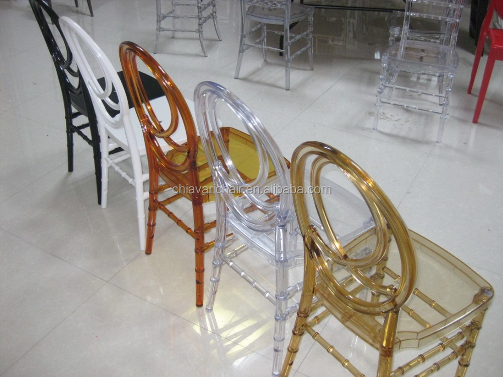 Transparent Colors PC Resin Acrylic Hotel Phoenix Wedding Chairs