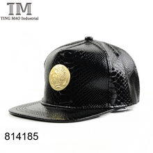 Leather Metal Baseball Cap Men & Women Hip Hop Hats 814185