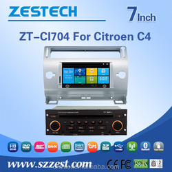 touch screen car dvd player for CITOREN C4 car dvd player with ce fcc emc lvd