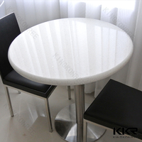 Waterproof quartz stone top round restaurant dining table