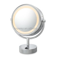 6 inch North America bathroom furniture lighted magnifying makeup mirror