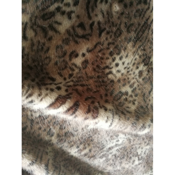 STABILE 2017 most popular 100% polyester animal print/leopard faux fur fabric Customized
