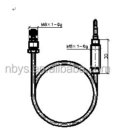 YT-K-09 thermocouple used in gas heater,gas fireplace thermocouple