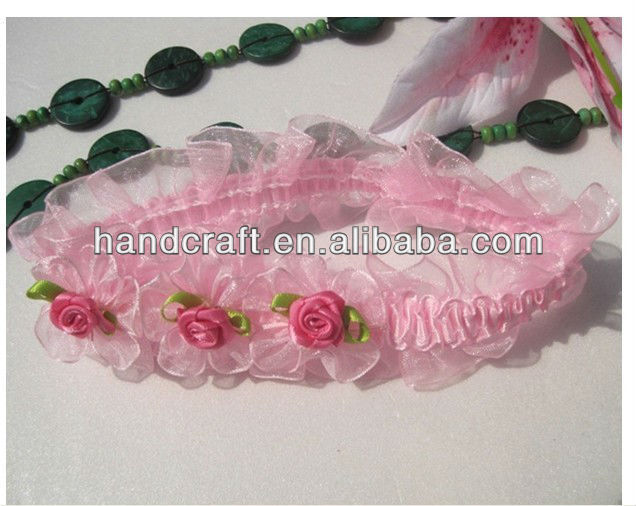 Pink, Rose Korean New Style Cute High Quality Lace Infants Baby Headband, Children Butterfly Knot Headband