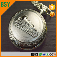 BSY Black and WhiteSteampunk Train Style skeleton wholesale vintage pocket watch