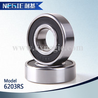 China supplier cixi negie factory made high speed precision performance deep groove 6203 motorcycle bearing