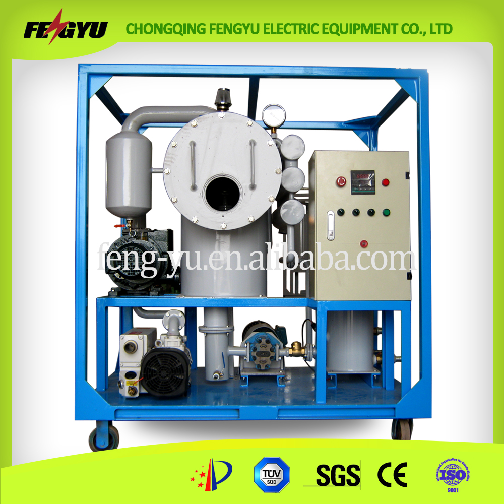 Double Stage Vacuum Transformer Oil Regeneration Machine for Transformer, Oil Recycling
