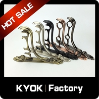 KYOK hot new products 2015 metal double curtain rod brackets, finger double aluminum curtain rod base, wall mount heavy duty rod
