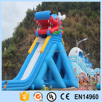 Chinese dragon style inflatable pvc water slide for outdoor play