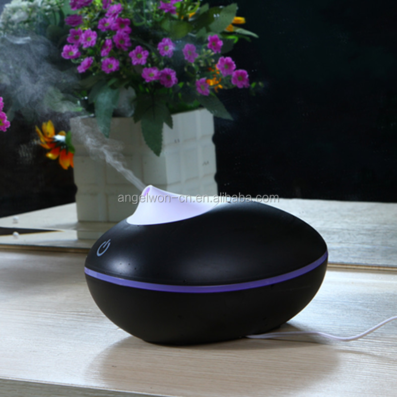 200ml wood grain touch control aromatherapy oi diffuser ultrasonic SAP humidifier home scent mist maker with led light