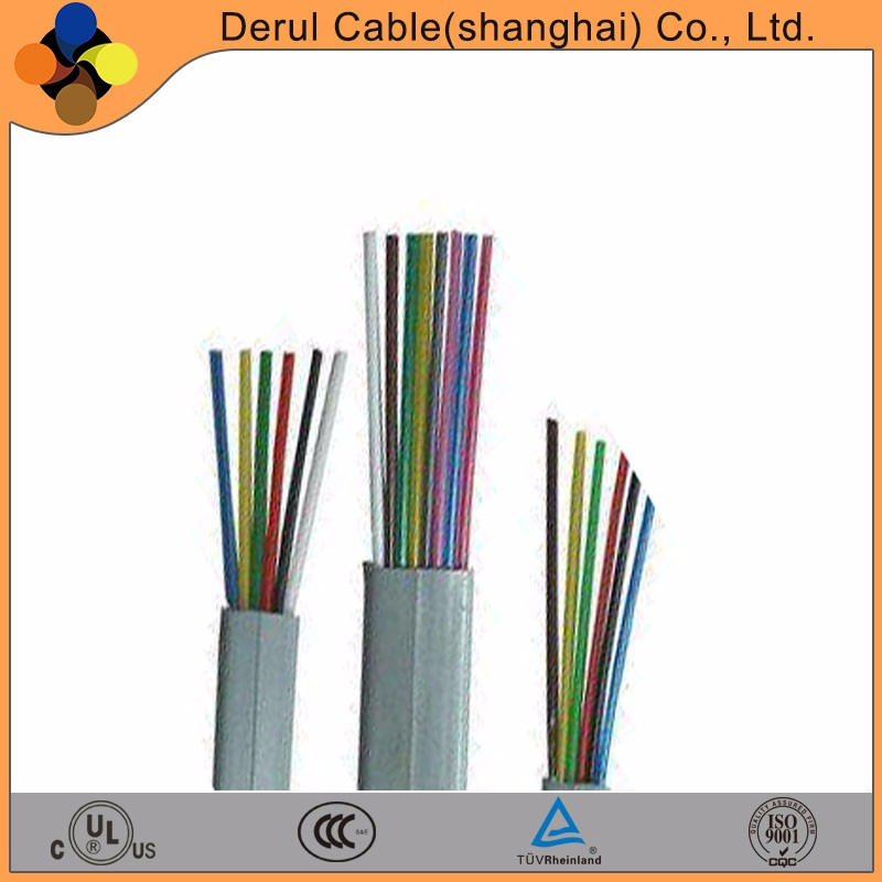 220v 8 core flat flexible elevator travel cable for cctv camera