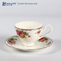 Old Rose Bulk Tea Cup And Saucer / English Style Grace tea ware porcelain bone china