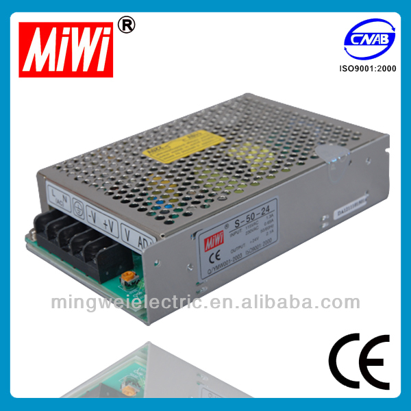 S-50-24 Switching Mode Single Output DC Power Supply 50W 5V 12V 24V 2.1A