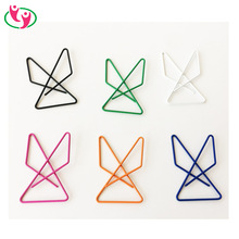Eco-friednly Fancy PET coated Butterfly Shape Paper Clip in assorted colors