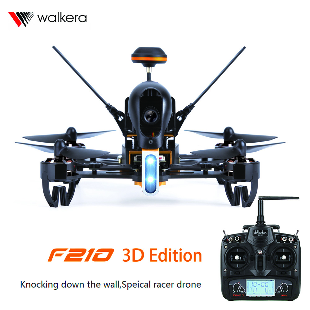 Walkera F210 3D Edition 2.4GHz 120 Degree HD Camera F3 3D Knocking Down the Wall Racing Drone RTF Devo7 RC Quadcopter