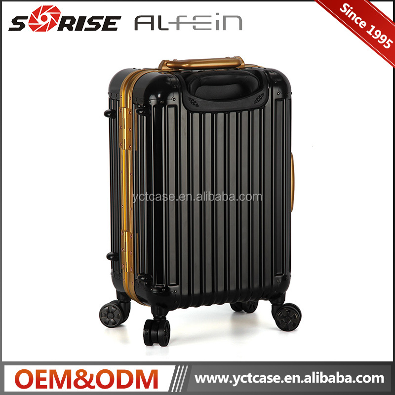 Factory price waterproof aluminum luggage case pilot business case for travelling