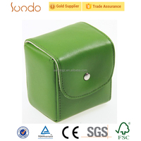 Green young leather watch packaging box