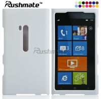 For Nokia Lumia N900 White Rubberized Crystal Mobile Case