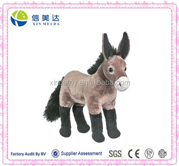 Plush Standing Mule Toy Kids Stuffed Animal