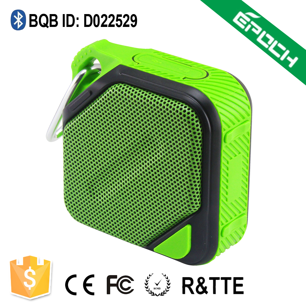 4 ohm EQ sound effect Waterproof hands free bluetooth speaker mini with hook