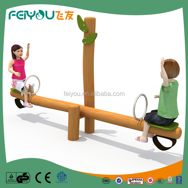 Funny and attractive outdoor wooden seesaw for children play from Feiyou