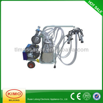 Gasoline Vacuum Pump-typed Double-Barreled Adcanced Mobile Milking Machine