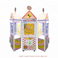 Candy crane house simulator game machine kids plush toys claw game machine