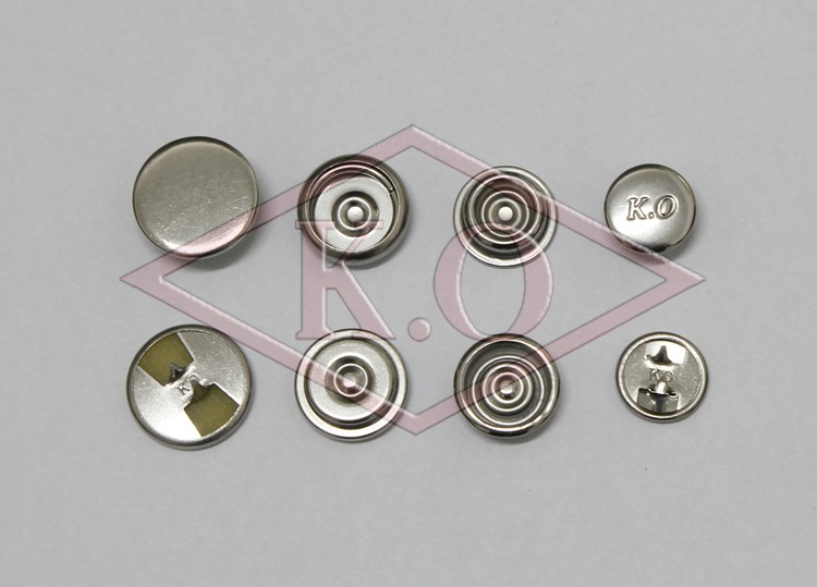 custom metal two-prong snap button for clothes the newest clothing accessories, Certified by Intertek & Oeko-Tex Standard 100